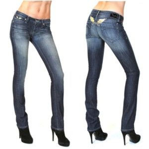 Robin's Gold Wings Straight Marilyn Jeans 27